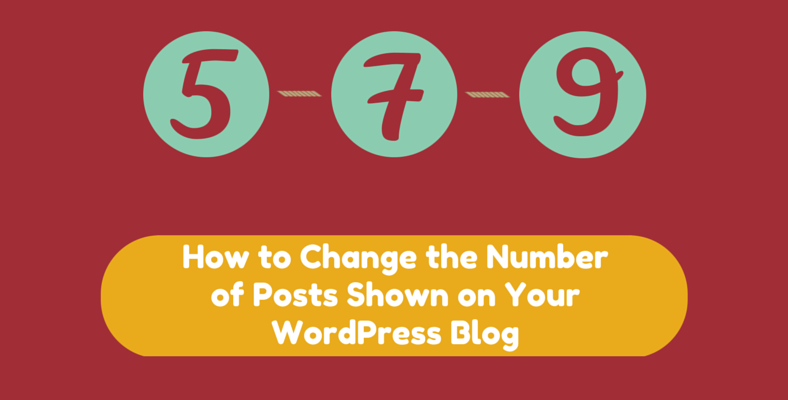 change the number of posts shown in wordpress blog