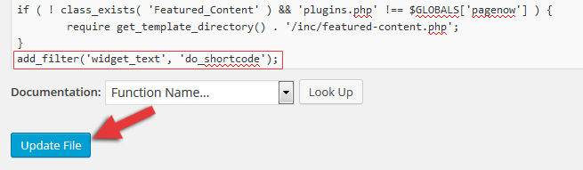 enable shortcodes in WordPress widgets