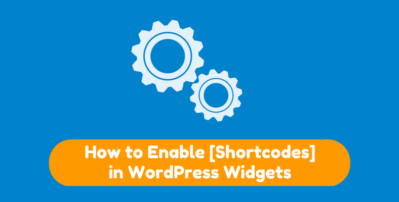 how to enable shortcodes in wordpress widgets
