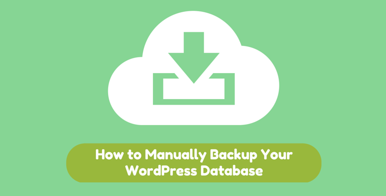 how to manually backup wordpress database