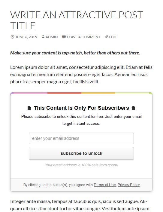 opt in panda email locker