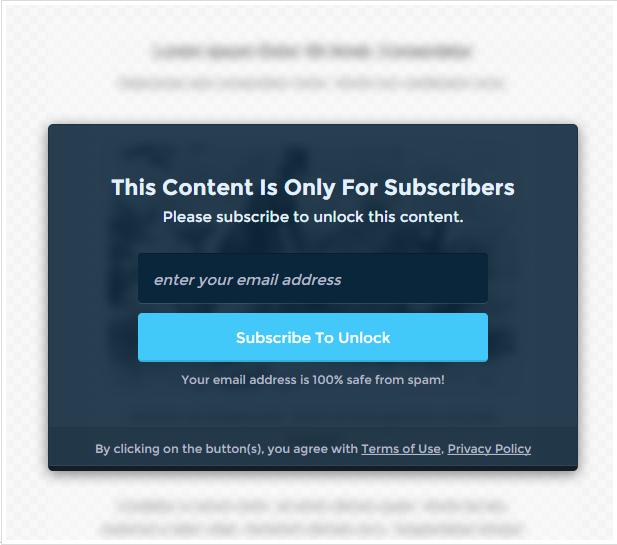 opt-in panda plugin content lock