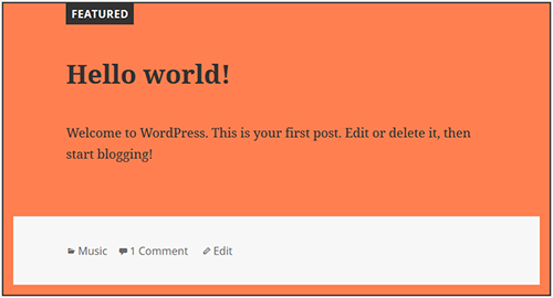 wordpress sticky posts styling