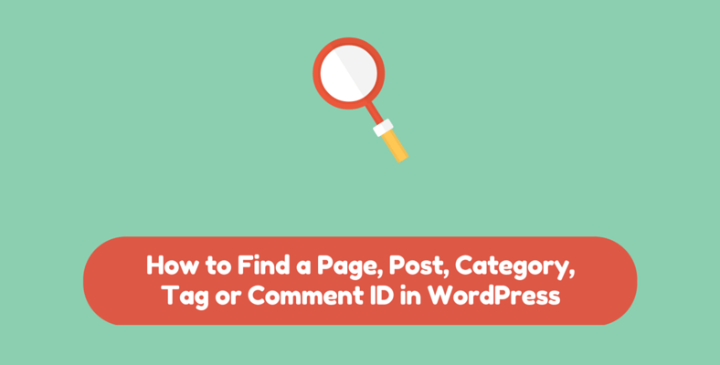 How to Find a Page, Post, Category, Tag or Comment ID in WordPress