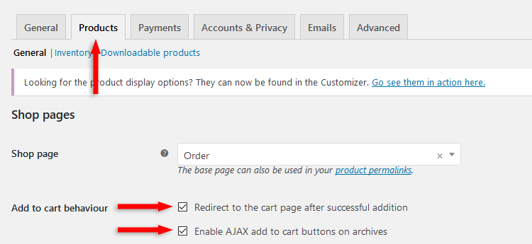 woocommerce add to cart behaviour