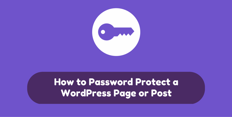 How to password protect a WordPress page or post