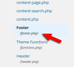 WordPress footer.php
