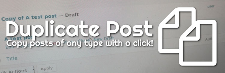 duplicate post wordpress plugin
