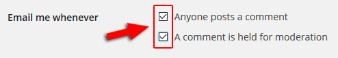 disable comment notification email in wordpress
