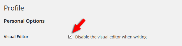 how to remove the wordpress visual editor