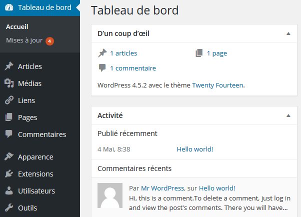 WordPress in French language