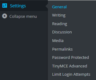 WordPress Settings General