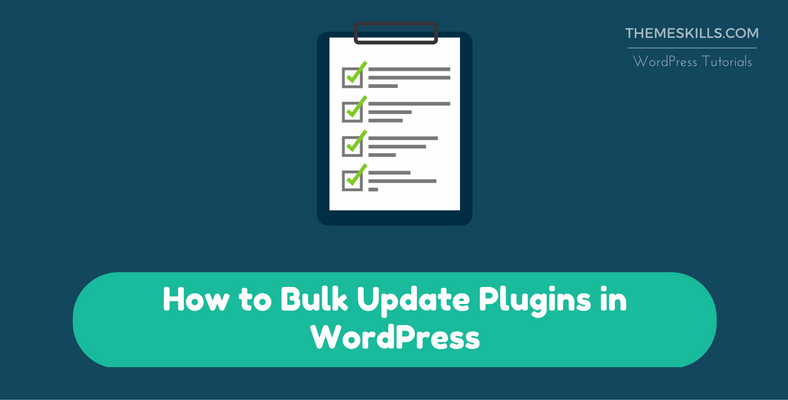 How to Bulk Update Plugins in WordPress