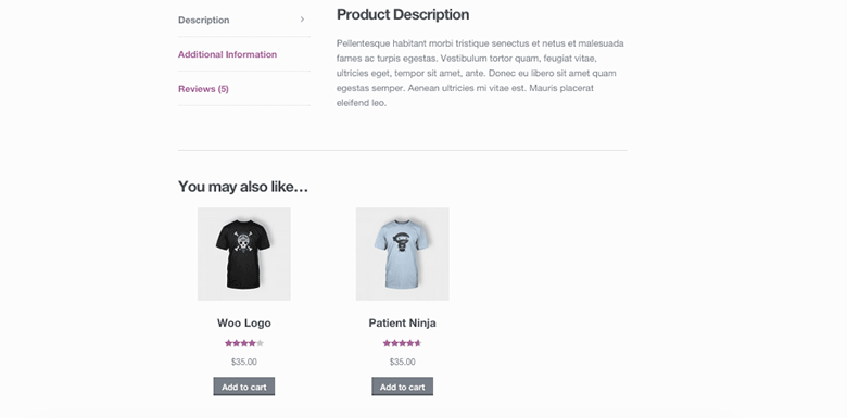 woocommerce up-sells front-end