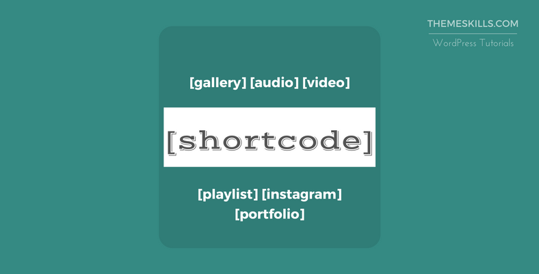 How to Add Shortcodes in a WordPress Post or Page
