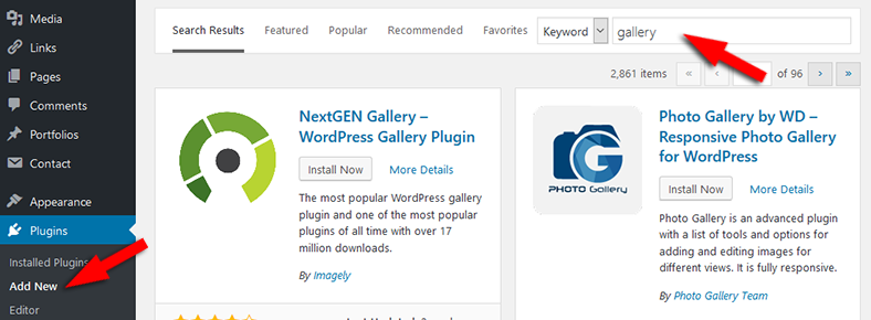 Add new plugins in WordPress