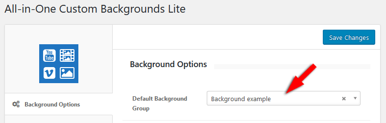 All-in-One Custom Backgrounds Lite options