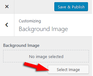 Select Background Image in WordPress