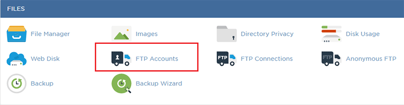 FTP accounts cpanel