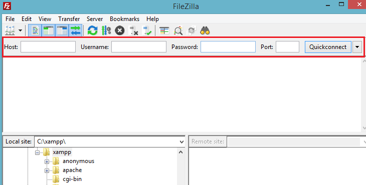 FileZilla set up
