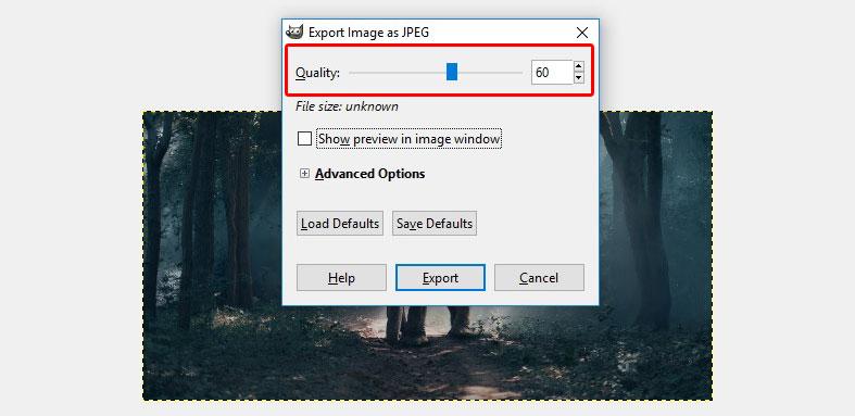 GIMP image quality