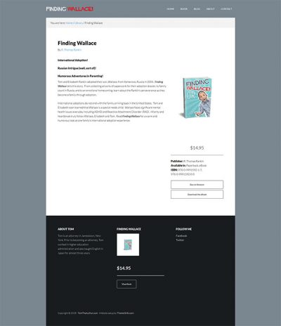 TomTheAuthor Book Page