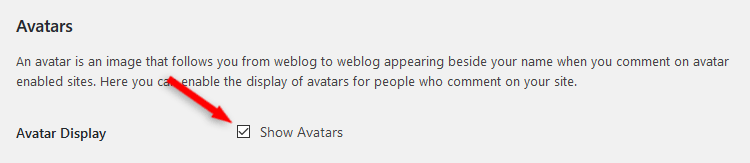 Disable Avatars in WordPress