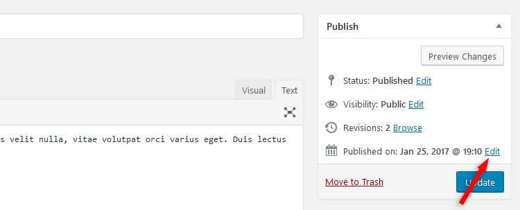 Edit date of a WordPress post