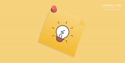 pinned note with a lightbulb