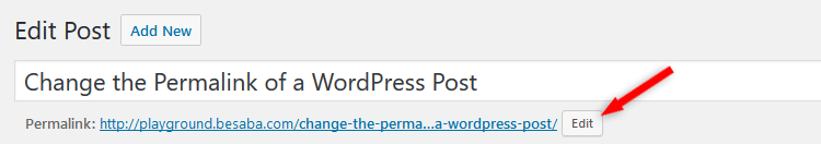 Edit post permalink in WordPress