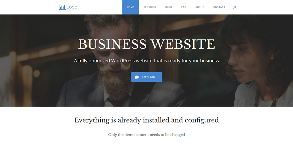 ready-made wordpress business website