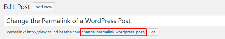 SEO-friendly WordPress post permalink