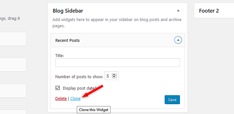 duplicate widget in wordpress