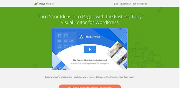 Thrive Architect WordPress page builder