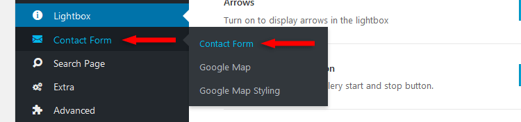 avada contact form options