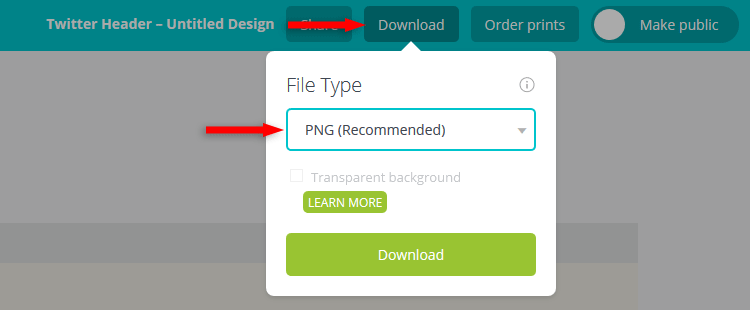 Canva download file
