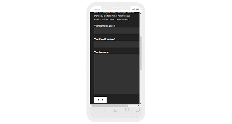 contact form 7 not responsive
