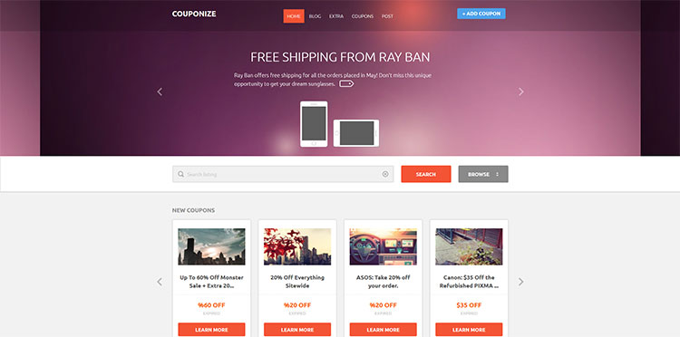 couponize wordpress theme