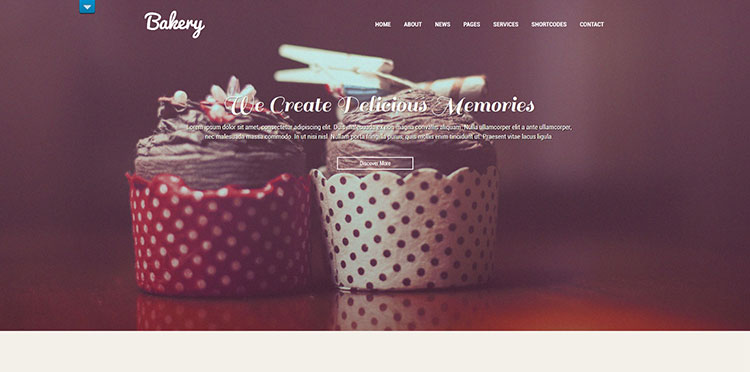 we bake wordpress theme