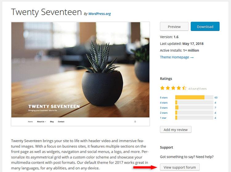 twenty seventeen support forum