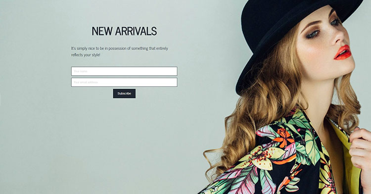 coming soon page subscription wordpress page