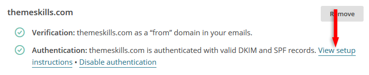 mailchimp authenticate domain instructions link
