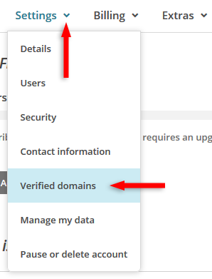 mailchimp verified domains