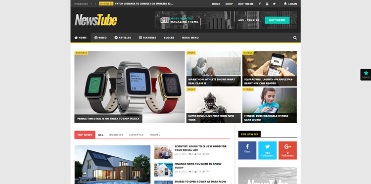 newstube wordpress video theme