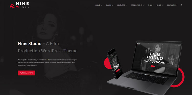 nine studio wordpress video theme