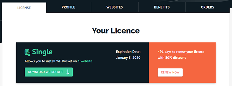 wp rocket license expire