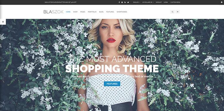 blaszok premium ecommerce wordpress theme