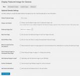 Display Featured Image for Genesis plugin main settings