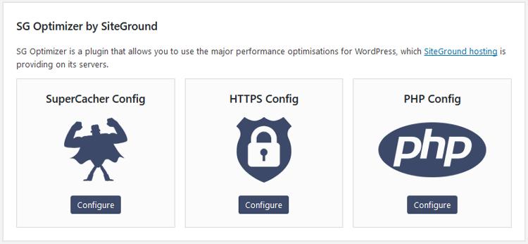 siteground sg optimizer plugin