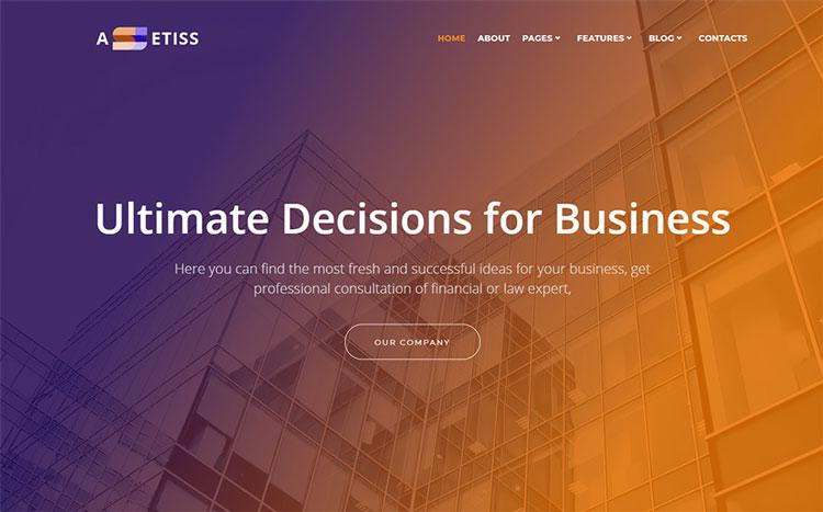 assetiss elementor business wordpress theme